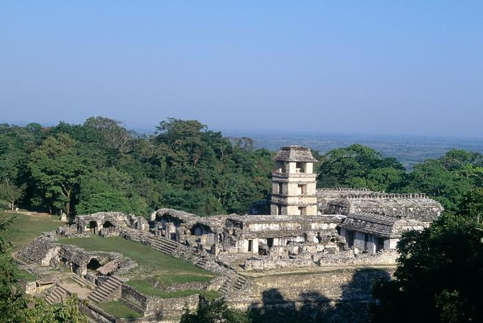 View of Palace, Palenque, Chiapas