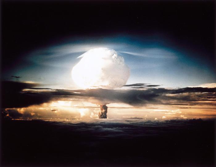 Mushroom cloud hydrogen bomb