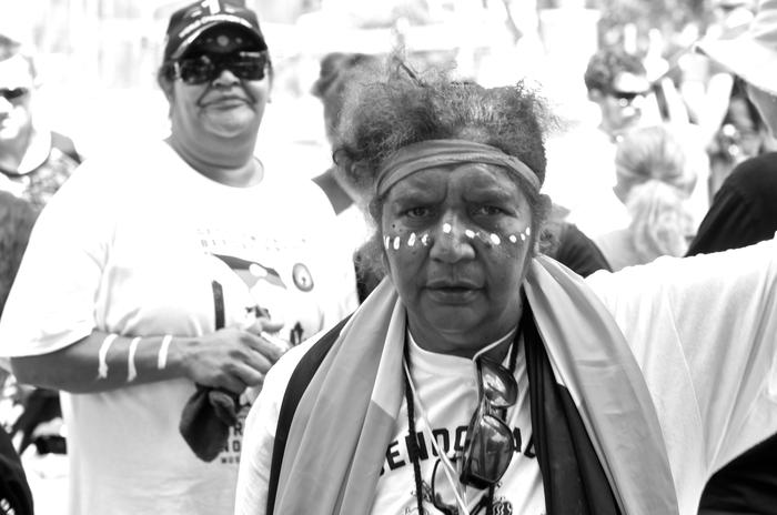 Grandmothers against removal protestor