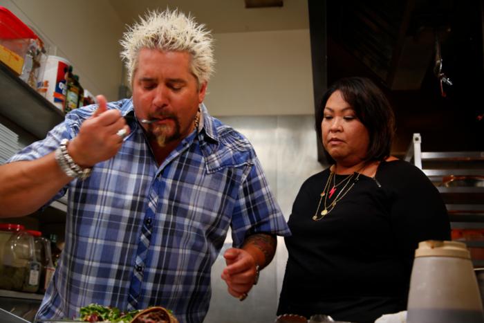 guy fieri tasting food