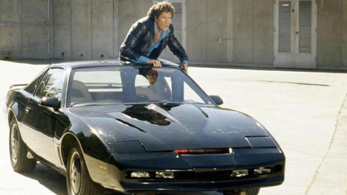 David Hasselhoff in a scene from Knight Rider