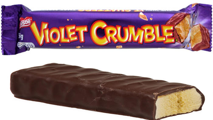 Violet Crumble chocolate