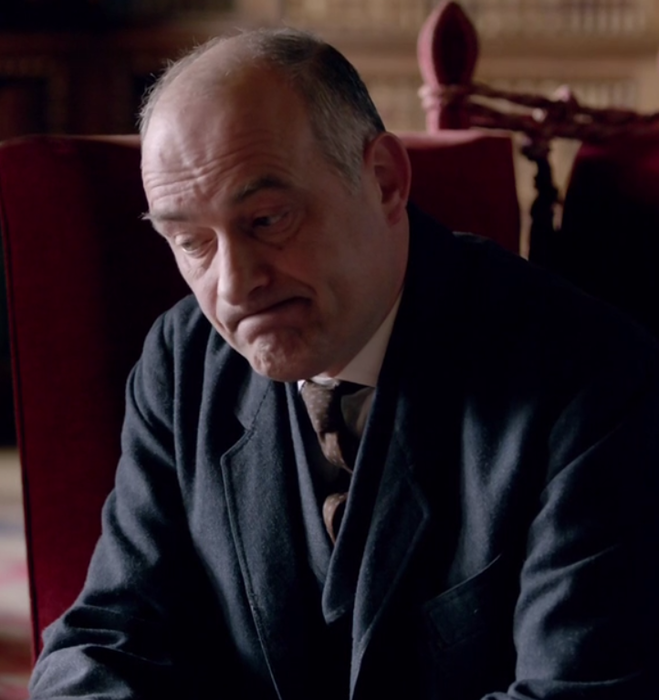 Inspector Vyner in Downton Abbey