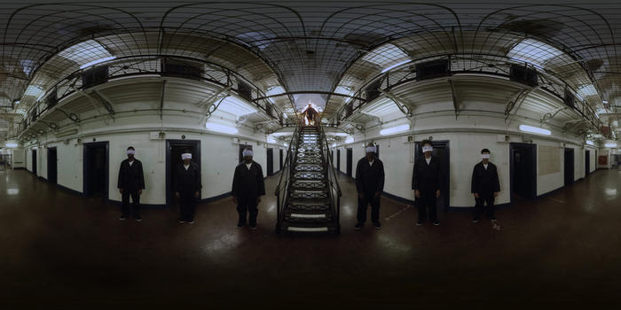 360 degree virtual spaces were created from in an abandoned prison.