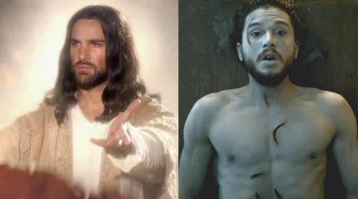 Jesus Jon Snow Game of Thrones resurrection