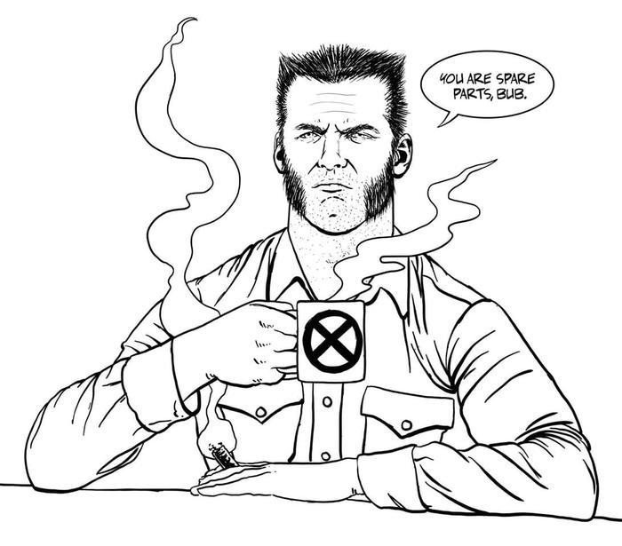 Keeso Wolverine Cartoon