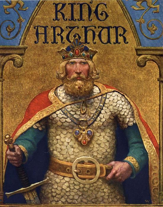 King Arthur painting, artist unknown