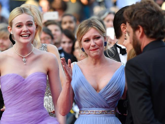 Kirsten Dunst, crying at Cannes