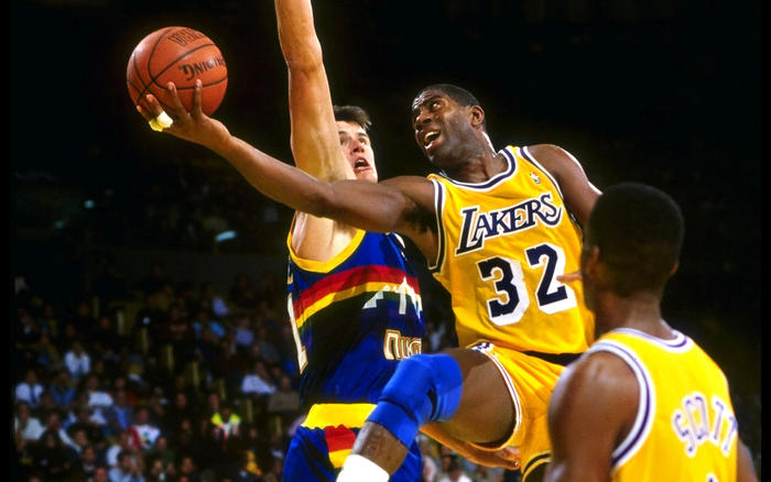 Magic Johnson, LA Lakers, basketball player