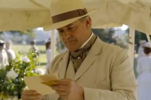 Lord Grantham note on Downton Abbey