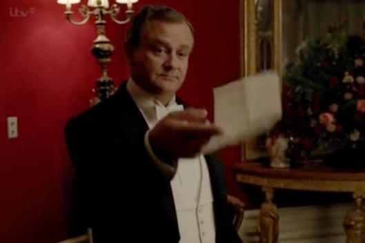 Lord Grantham happy note on Downton Abbey
