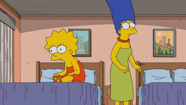 Marge and Lisa Simpson