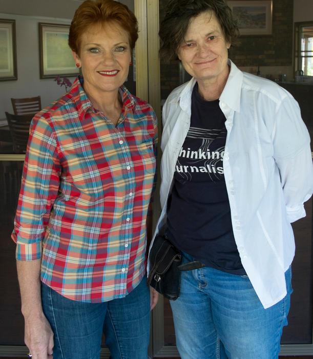 Margo Kingston and Pauline Hanson
