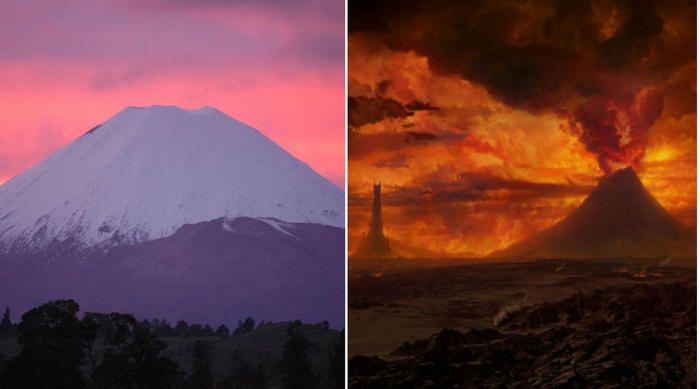 Tongariro National Park, Ruapehu, New Zealand, Mount Doom in The Lord of the Rings