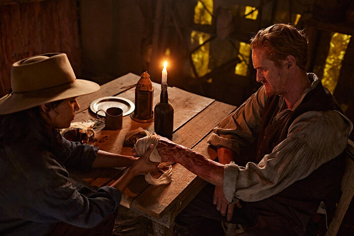 Leonie Wyman and Christopher James Baker in New Gold Mountain