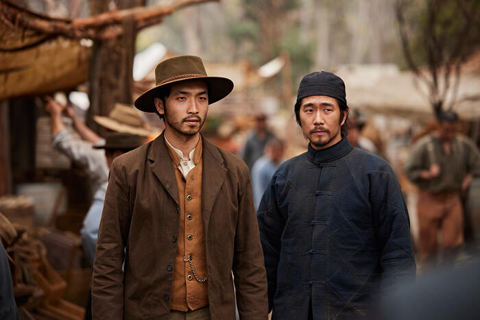 Yoson An and Chris Masters Mah in the Chinese camp in New Gold Mountain.
