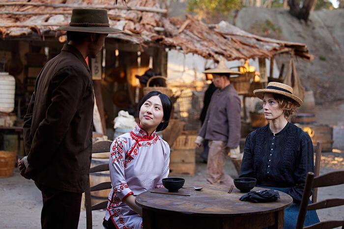 Yoson An, Mabel Li and Alyssa Sutherland in New Gold Mountain