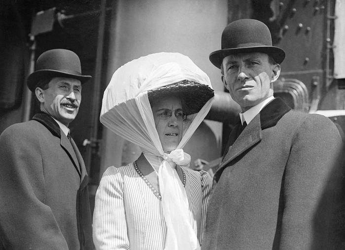 Orville, Wilbur and Katharine Wright