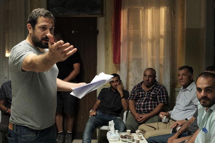 Tawfik Abu Wael on set for Our Boys