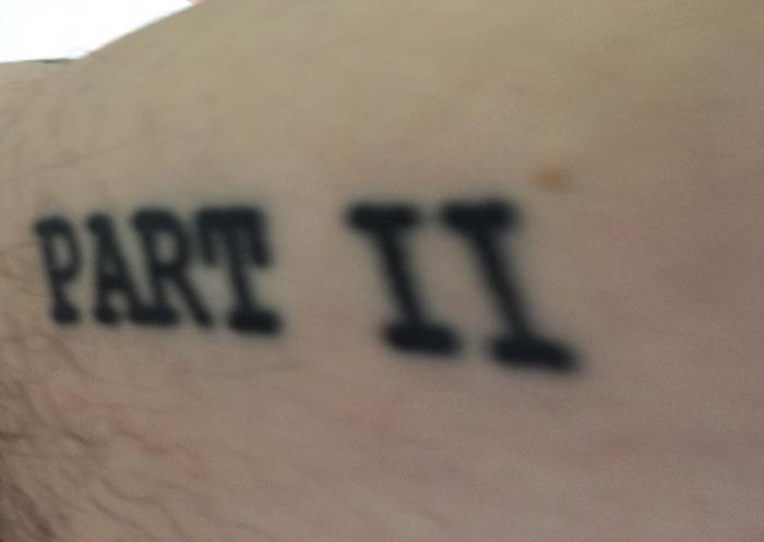The author's sequel tattoo