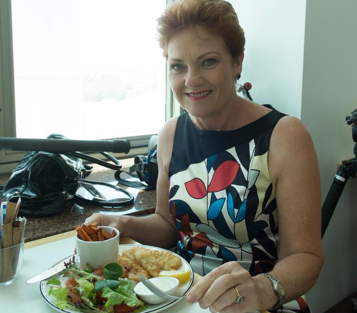 Pauline Hanson fish and chips