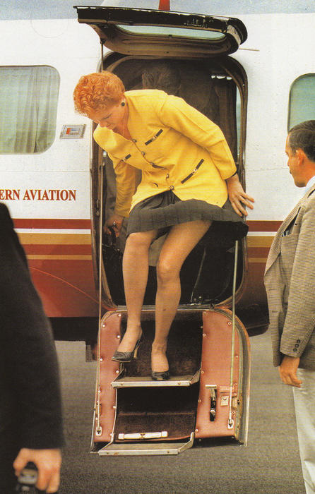 The infamous 'leg shot' of Pauline Hanson. Photo by Dean Sewell