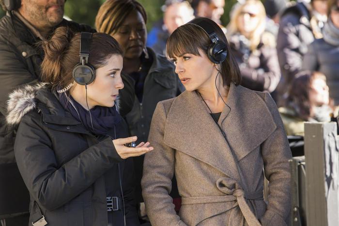 Rachel and Quinn at work