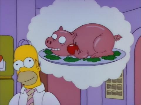 homer pig thought