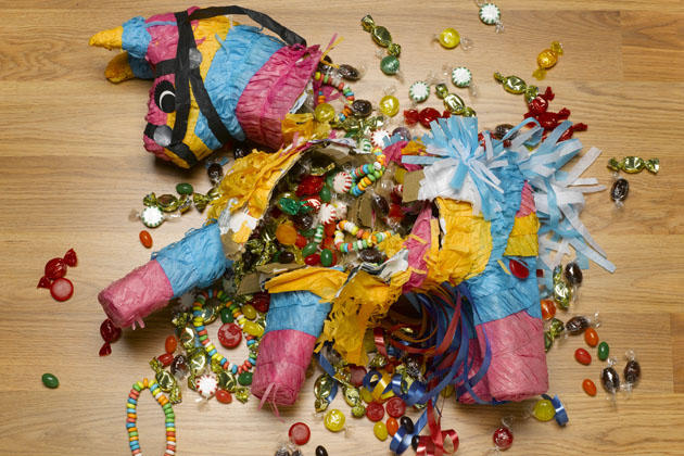 Donkey pinata with lollies