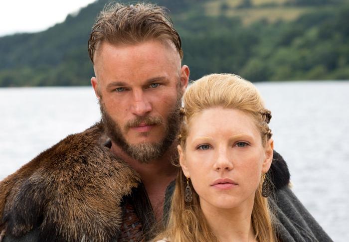 Ragnar and Lagertha (Katheryn Winnick)