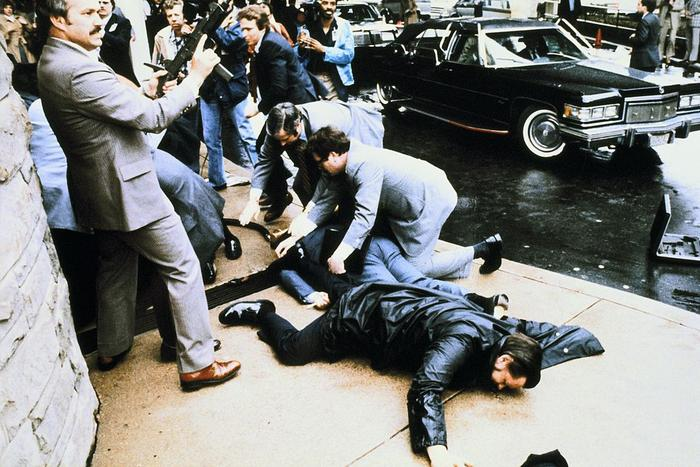 Washington Dc, Assassination Attempt Against The President Ronald Reagan In 1981, March 30