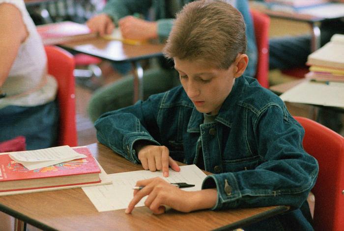 Ryan White Attending Math Class