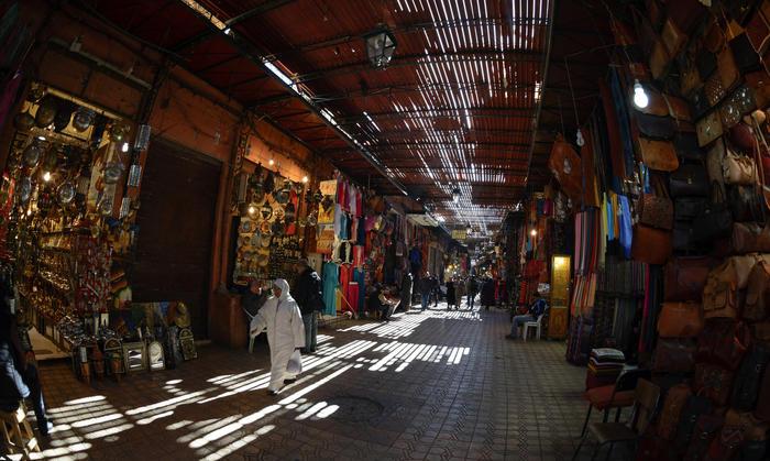The Medina Souks, Marrakech, Morocco