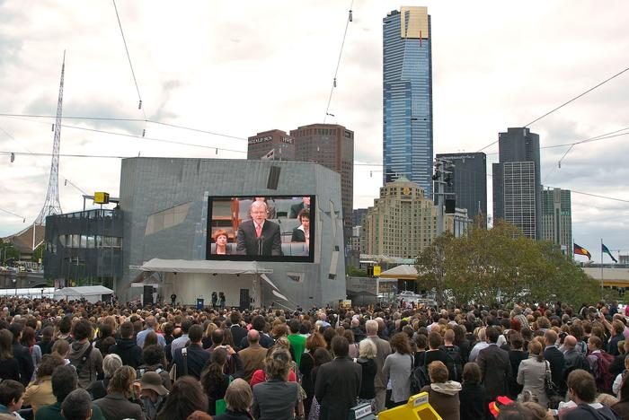 Kevin Rudd apology to Stolen Generations Federation Square