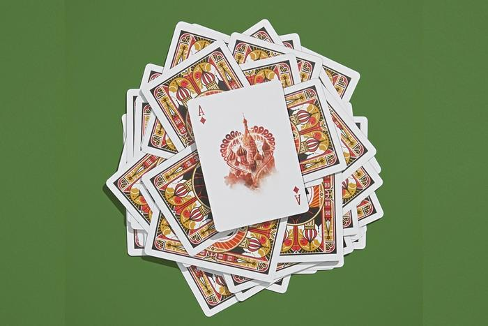 Russia playing cards