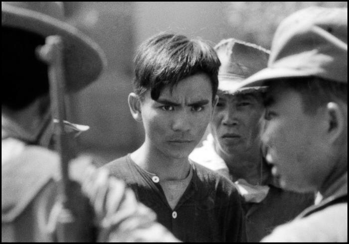 Vietnamese farmer detained for questioning, 1967.