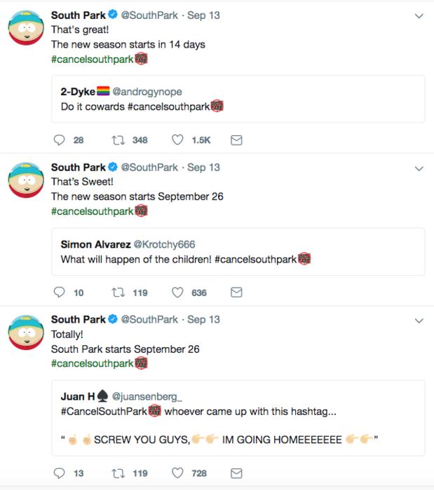 south park tweets