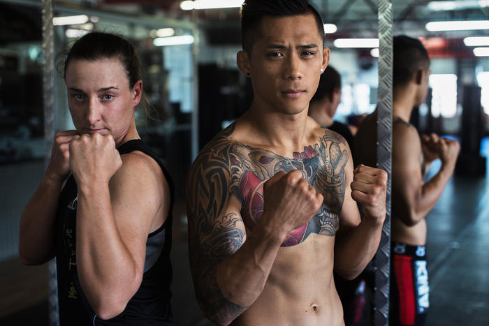 MMA Fighters Martin Nguyen and Claire Todd