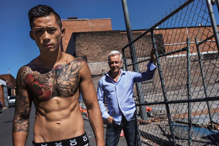 MMA Fighter Martin Nguyen and coach Fari Salievski
