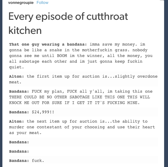 My Friends Forced Me To Watch Cutthroat Kitchen Until I