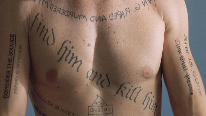 memento tattoos guy pearce