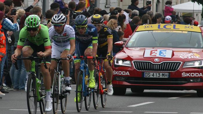 Tour de France drafting