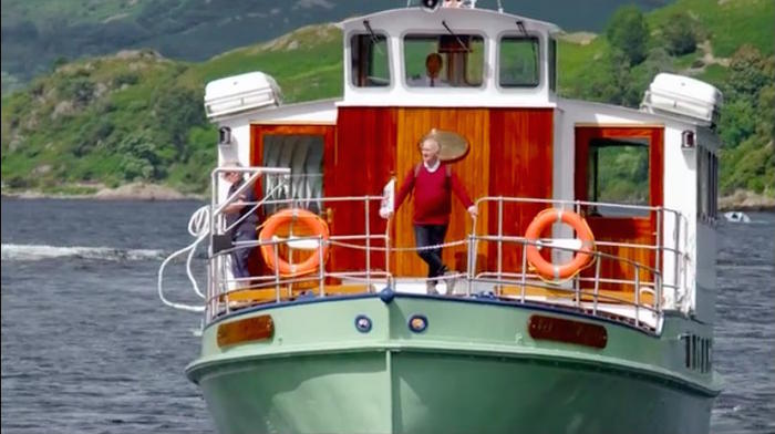 Tony Robinson Coast to Coast boat