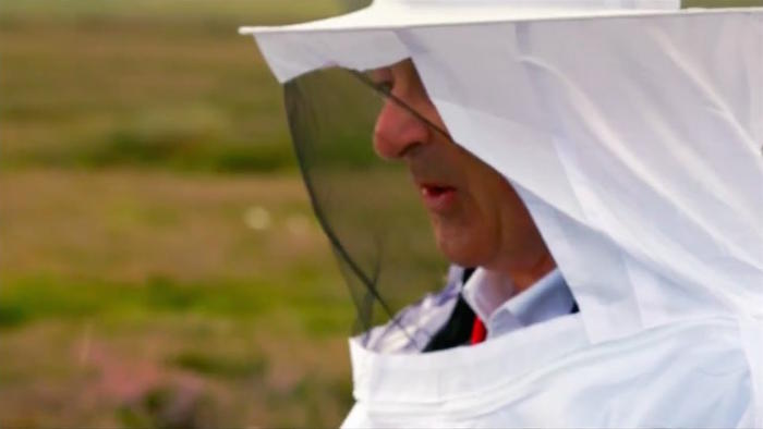 Tony Robinson Coast to Coast beekeeper