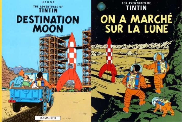 Tintin Destination Moon / On the Surface of the Moon