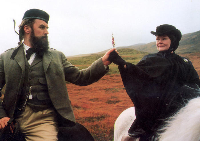 Judi Dench as Queen Victoria and Billy Connolly as her faithful ghillie John Brown in the film 'Her Majesty Mrs Brown'