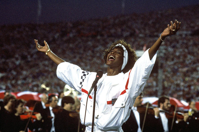 Houston performing The Star-Spangled Banner at the 1991 Super Bowl