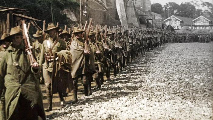 australia in colour, WWI troops