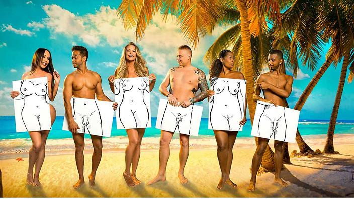 The naked celebrities in Dutch reality TV show Adam Looking For Eve