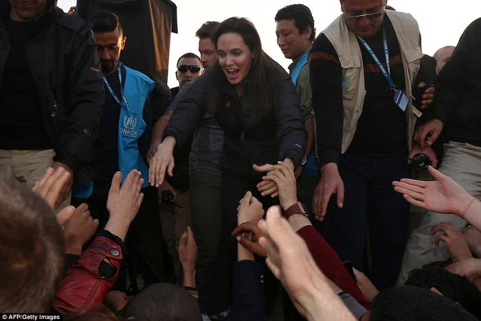 Angelia Jolie worries the refugee problem is out of control now.